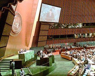 United Nations General Assembly - Spanish Prime Minister José Luis Rodríguez Zapatero addressing the General Assembly in New York, 20 September 2005