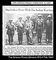 General douglas macarthur meets american indian troops wwii military pacific navajo pima newspaper photo typical.jpg