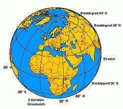 breddegrad kart Breddegrad – Wikipedia breddegrad kart