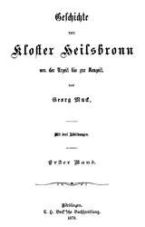 Geschichte von Kloster Heilsbronn