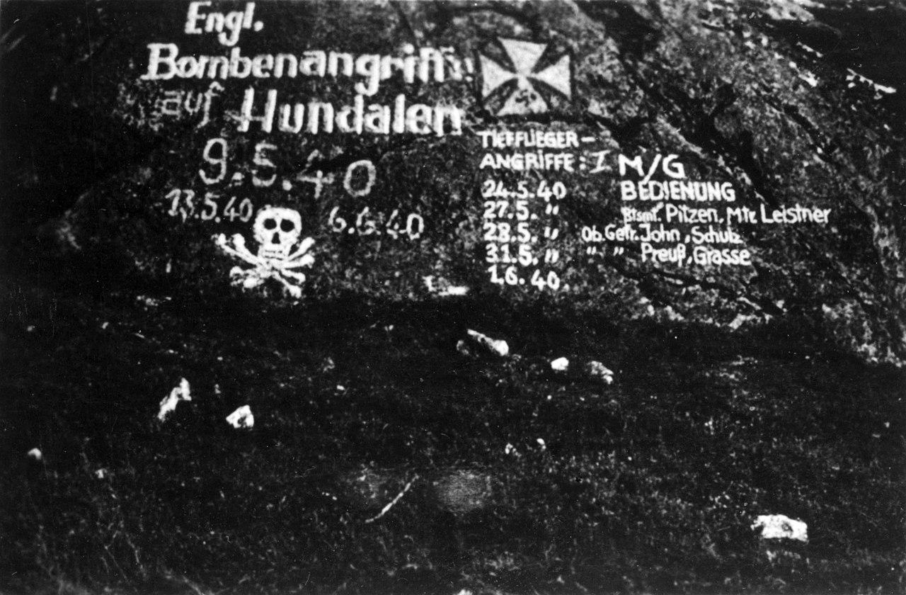 File:German notes about English bombings Hundalen, Narvik jpg