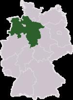 Today's state Niedersachsen (Lower Saxony).