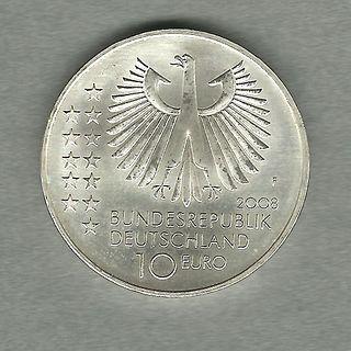 Цена монеты 10 евро музей 2002 германия 10 рублей цветная эмаль