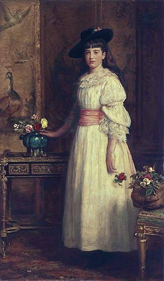 Gertrude Vanderbilt Whitney - Gertrude, 13 years of age. (John Everett Millais, 1888)