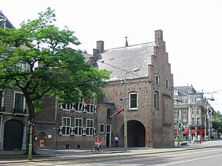 Gevangenpoort former gate and medieval prison on the Buitenhof in The Hague