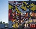 Gevelkunst, Stadskantoor, Dordrecht - Beeldenstroom Woordenstorm (29922881915).jpg