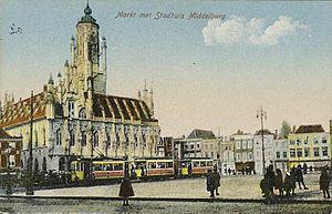 Middelburg - Middelburg's city hall around 1910