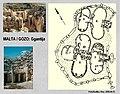 Ggantija, megalit templom és alaprajza.jpg