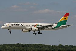 Boeing 757 der Ghana International Airlines