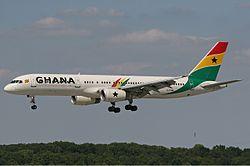 Ghana International Airlines Boeing 757