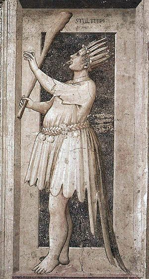 Folly (allegory) - A standard medieval allegory of Folly, painted by Giotto.