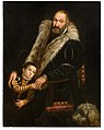 Giovanni Antonio Fasolo - Portrait of a gentleman and a child with a dog.jpg