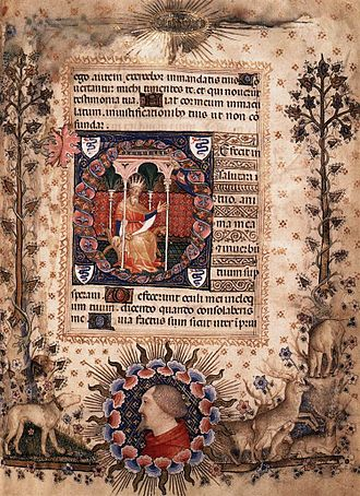 Psalm 119 - Manuscript of verse 81 by Giovannino de' grassi, Biblioteca Nazionale, Florence