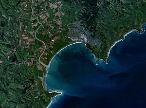 Gisborne, New Zealand - NASA satellite photo of Gisborne