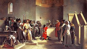 Amos Cassioli - The Oath of Pontida forming the Lombard League.