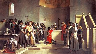 Battle of Legnano - The Oath of Pontida painted by Amos Cassioli
