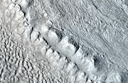 Glacier close up with hirise