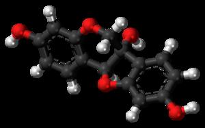 Glycinol (pterocarpan) - Image: Glycinol 3D balls