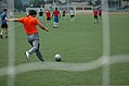 Goalkeeper for the Association of the U.S. Army conducts a goal kick during the good neighbor's soccer game June 8, 2013, held at Camp Casey in Dongducheon, South 130608-A-WV398-110.jpg