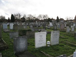 Golders Green Jewish Cemetery - Image: Golders Green Jewish Cemetery, West Side