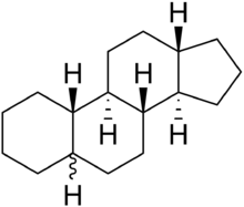 Stereo, skeletal formula of gonane ((1R,2S,10S,11R,15S)-heptadecane) with all chiral centres hydrogenised