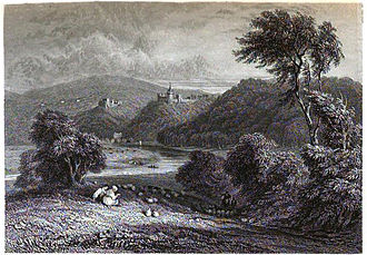 Samuel Rush Meyrick - Goodrich Court and Goodrich Castle ruins