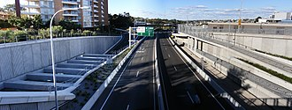 Gore Hill Freeway - Gore Hill Freeway in Lane Cove
