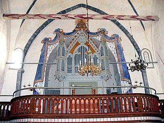 Ekeby Church - Image: Gotland Ekeby kyrka Orgelempore