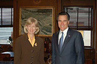 Gale Norton - Norton with Governor Mitt Romney in 2005
