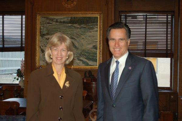 Governor Mitt Romney with Interior Secretary Gale Norton