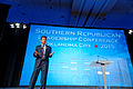 Governor of Louisiana Bobby Jindal at Southern Republican Leadership Conference, Oklahoma City, OK May 2015 by Michael Vadon 129.jpg