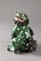 Grön Fos hund i porslin med huvudet som lock, från Kina - Hallwylska museet - 95438.tif