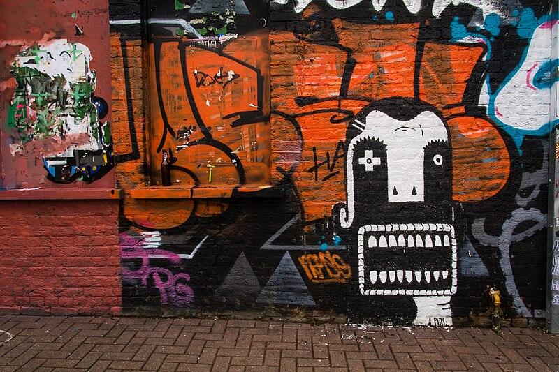 Graffiti sur Pedley Street à Londres.