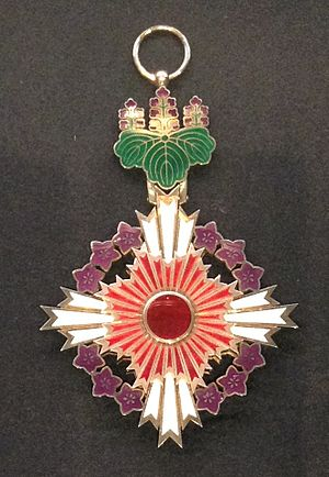 Japanese honors system - Grand Cordon of the Order of the Paulownia Flowers
