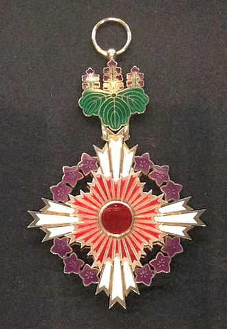 Orders, decorations, and medals of Japan - Grand Cordon of the Order of the Paulownia Flowers