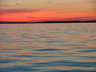 Grand Lake St. Marys State Park - Sunset over Grand Lake St. Marys