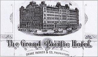 Grand Pacific Hotel (Chicago) - Image: Grand Pacific Hotel