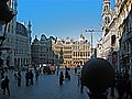 Grand Place,Brussels. Belgium. Town Hall is on left of Picture. - panoramio.jpg