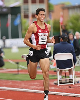 Grant Fisher - Fisher running at the 2017 PAC 12 Track and Field Championships
