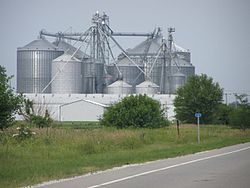 Grain Elevator along the tracks serving western Indiana farmers