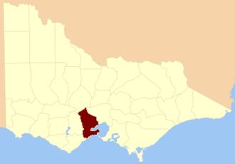 County of Grant, Victoria - Location in Victoria