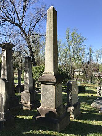 John B. Minor - Minor's gravestone at the University of Virginia Cemetery in Charlottesville, Virginia.