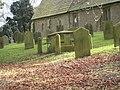 Gravestones in Kirby Hill Church - geograph.org.uk - 1709844.jpg