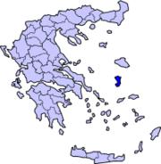Η θέση της Χίου στον ελληνικό χάρτη