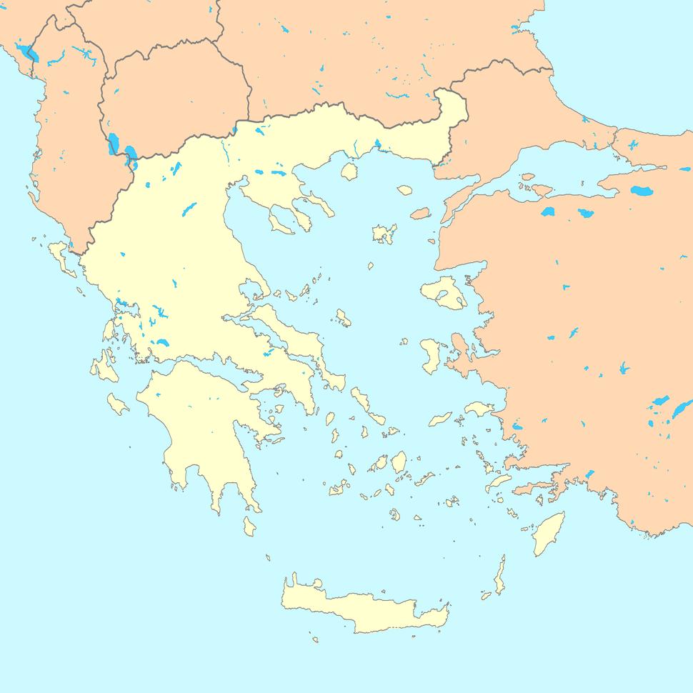 Greece map blank
