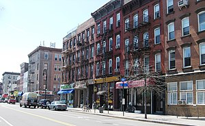 Greenpoint streetscape on Manhattan Avenue