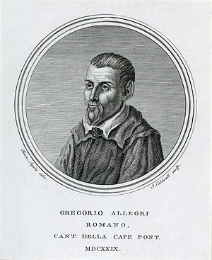 Allegri, Gregorio (ca. 1582-1652)