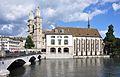 Grossmünster - Helmhaus-Wasserkirche - Münsterbrücke - Stadthausquai 2010-08-31 16-27-00 ShiftN.jpg