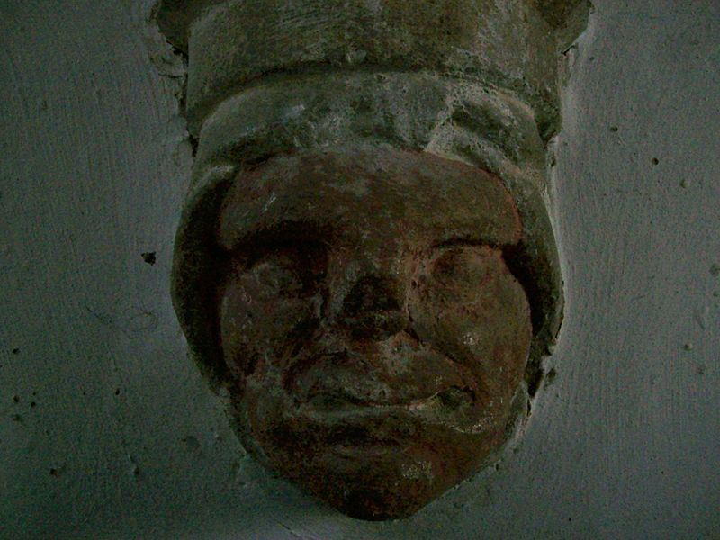 File:Grotesque head, Holywell church, Cambs.JPG - Wikimedia Commons