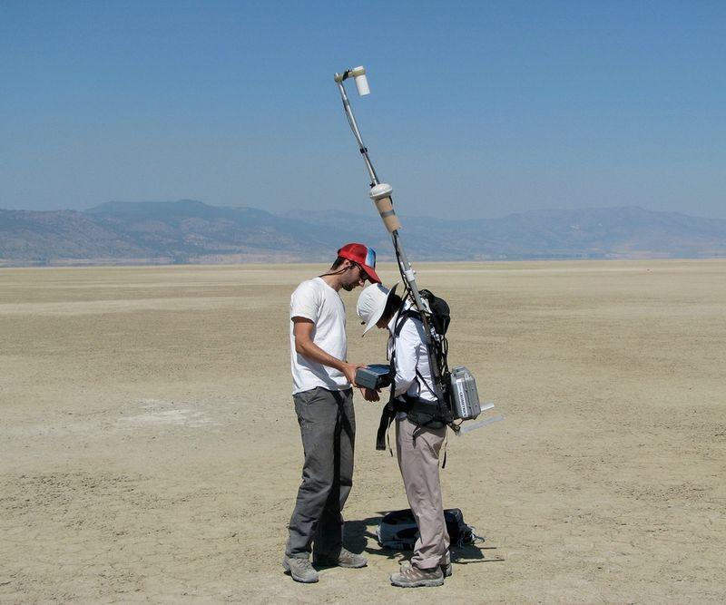 Ground surveying in Surprise Valley, California.jpg